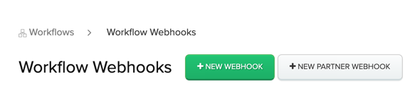 New Partner Webhook button