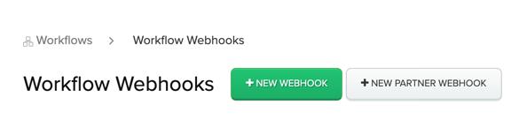 New Partner Webhook button