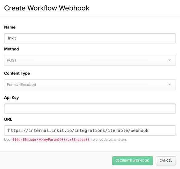 Configuring an Inkit webhook