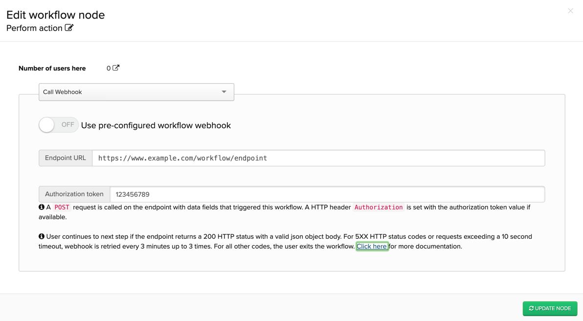 Configuring a custom webhook