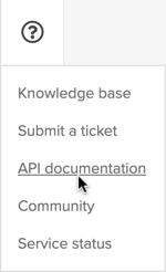 API Documentation navigation item