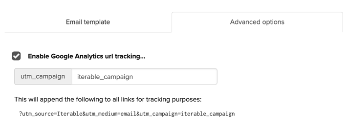 Enable Google Analytics URL tracking in Iterable