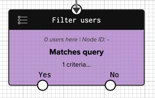 Matches Query workflow filter node