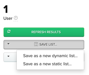 Saving as a dynamic or static list