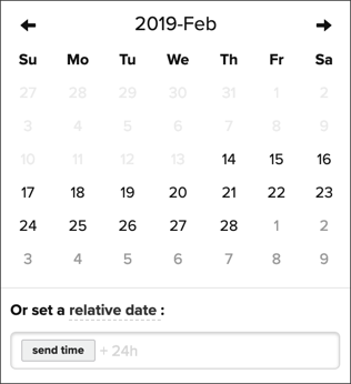Selecting a date for in-app expiration