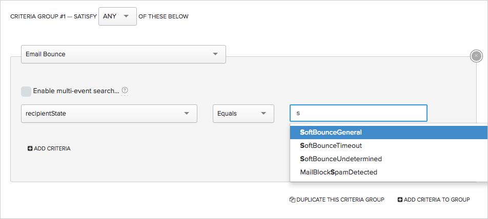 Segmenting on users with bounces