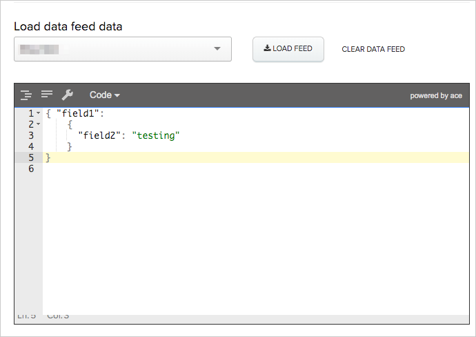 Data feed without an alias