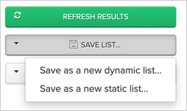 Creating a new static list