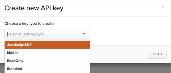 Creating a new API key