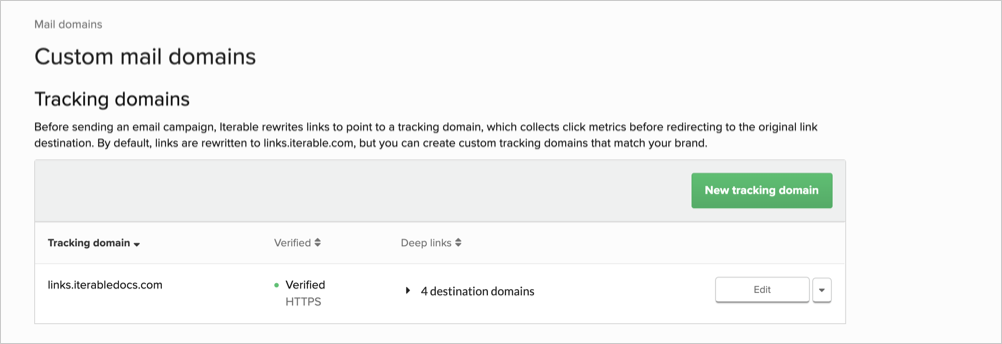 Tracking domains