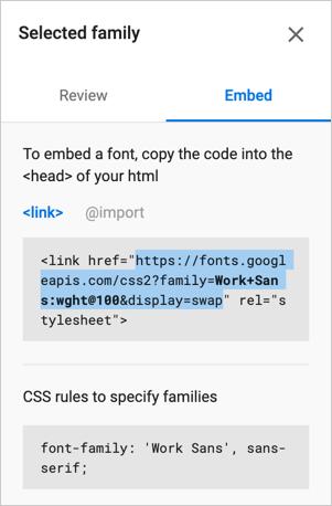 Font URL