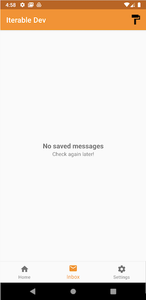 Android mobile inbox empty state