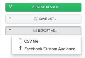 Export to a CSV file