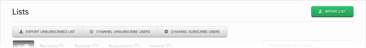 Channel Unsubscribe Users button