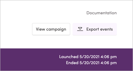 The Export Events button
